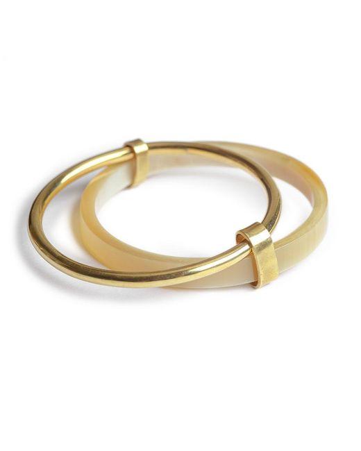 Soko - Natural Banded Contrast Bangles Bracelet - Lyst