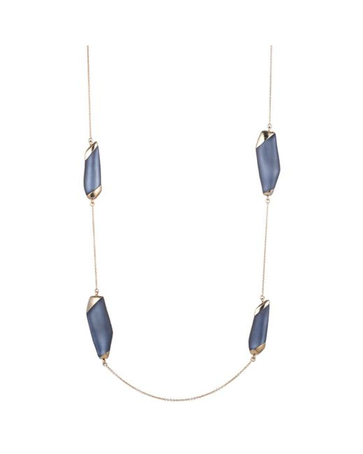 Alexis Bittar - Blue Lucite Station Necklace - Lyst