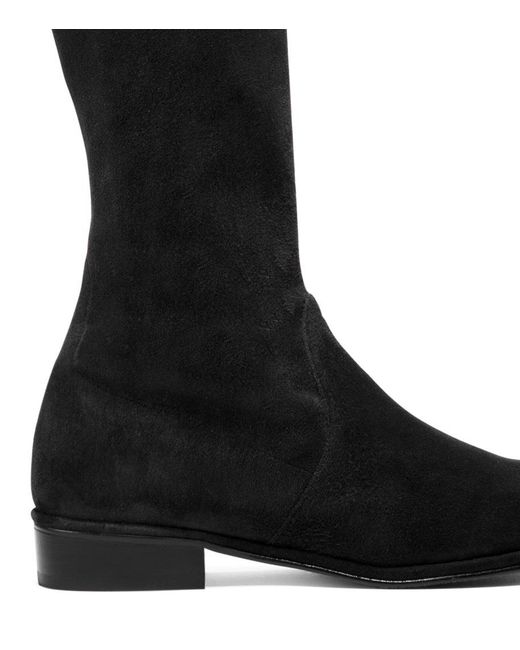 bed9e8ff553 ... Stuart Weitzman - Black The Kneezie Boot - Lyst ...