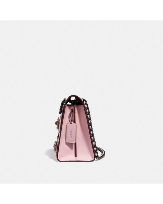 27c821b4b368 ... COACH - Pink Parker With Allover Tea Rose Stones - Lyst ...