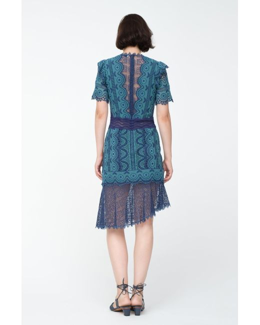 Sea Lola Lace Dress In Blue Lyst