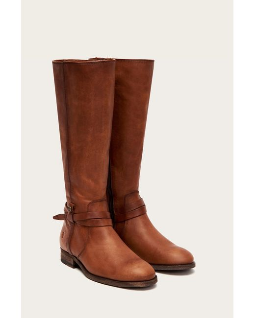 860c1922001 ... Frye - Brown Melissa Belted Tall - Lyst ...