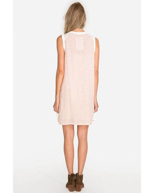 e025f2d4b9e ... Johnny Was - Pink Barbour Linen Tunic Dress - Lyst ...