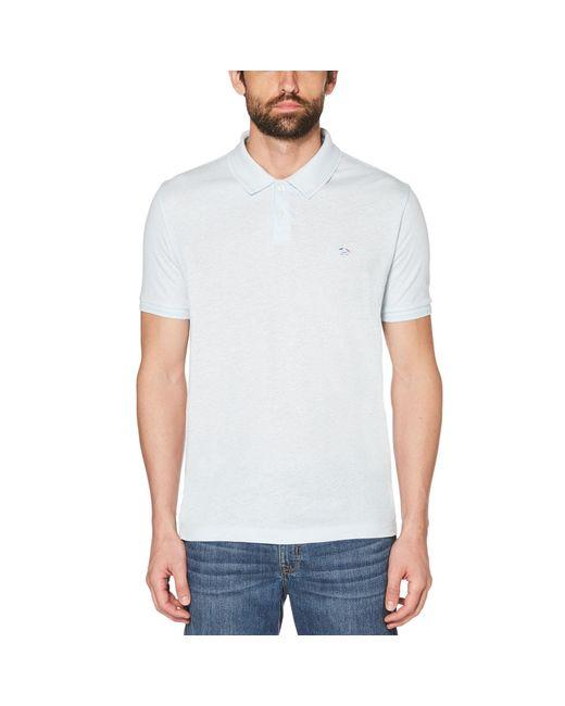 Original Penguin - White Linen Daddy Polo 2.0 for Men - Lyst