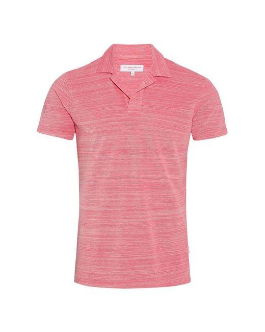 Orlebar Brown - Pink Felix Pique Resort-polo In Paradise/cloud Melange-pikee for Men - Lyst