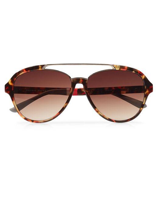 Orlebar Brown   Brown Aviator Sunglasses   Lyst
