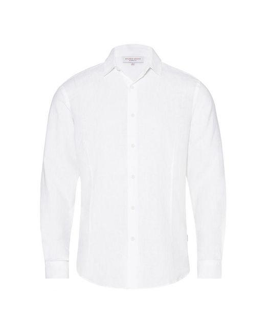 Orlebar Brown - White Meden Linen Hemd Mit Klassischer Passform In Weiß for Men - Lyst