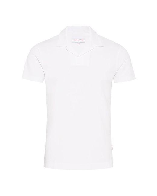 Orlebar Brown - Felix Waffle Cotton White Resort Polo for Men - Lyst