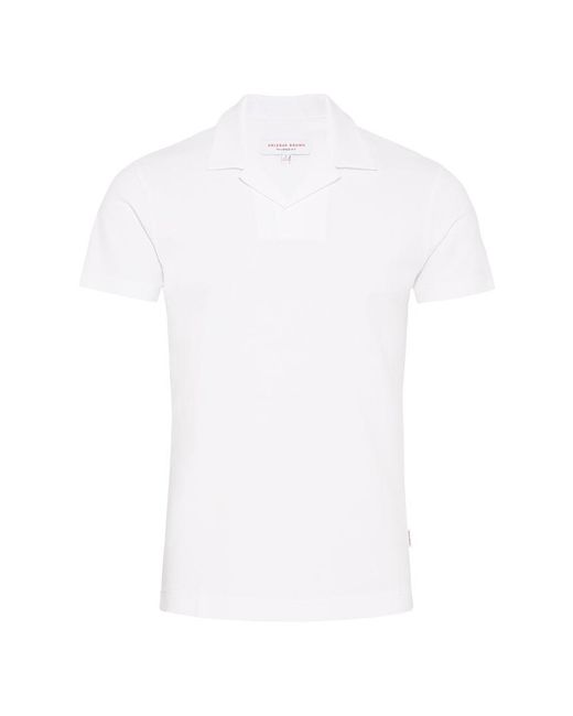 Orlebar Brown - White Felix Waffle Resort-polo In Weiß for Men - Lyst