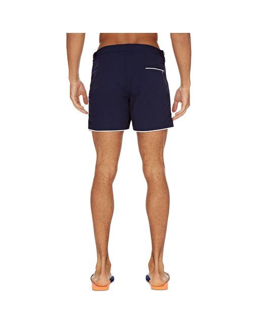 8b5b499322 ... Orlebar Brown - Blue Setter Navy/white Shorter-length Piping Swim Shorts  for Men ...