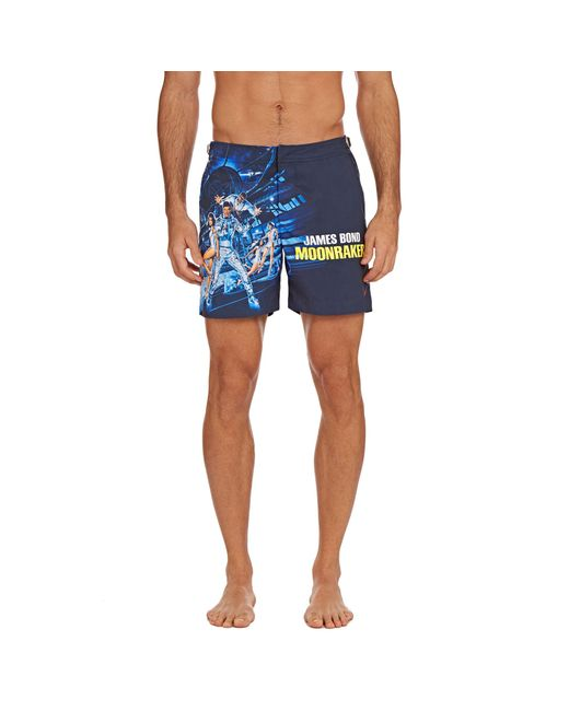 a5b56c0549 ... Orlebar Brown - Blue Moonraker Bulldog 007 Mittellange Badeshorts for  Men - Lyst ...