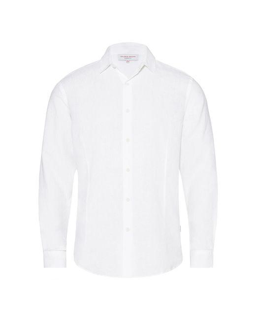 Orlebar Brown - Meden Linen White Classic-fit Shirt for Men - Lyst