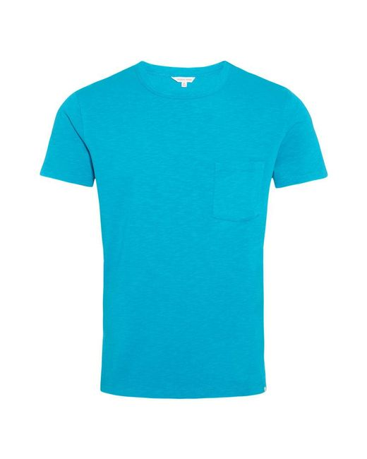 Orlebar Brown - Blue Sammy Heavyweight Azure Classic-fit T-shirt for Men - Lyst