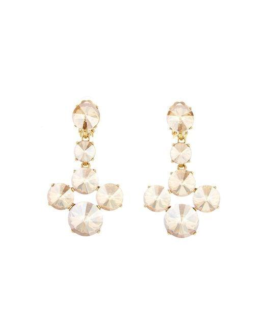 Oscar de la Renta - Metallic Scarlet Rivoli Stone Earrings - Lyst