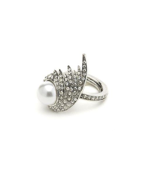 Oscar de la Renta   Multicolor Fanned Pearl Ring   Lyst