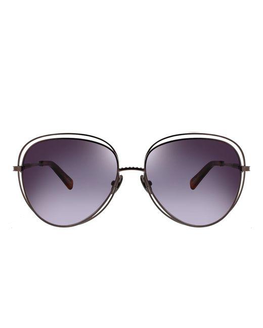 Oscar de la Renta | Multicolor Oversized Metal Teardrop Sunglasses | Lyst