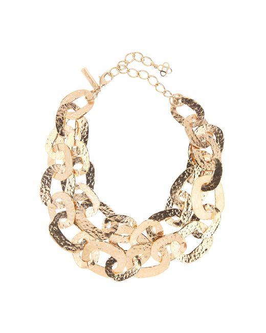 Oscar de la Renta | Multicolor Hammered Chain Link Necklace | Lyst