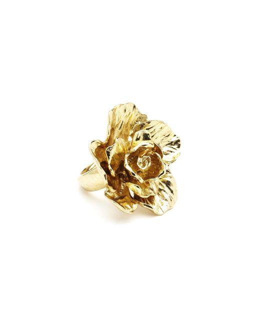 Oscar de la Renta | Metallic Bold Flower Ring | Lyst