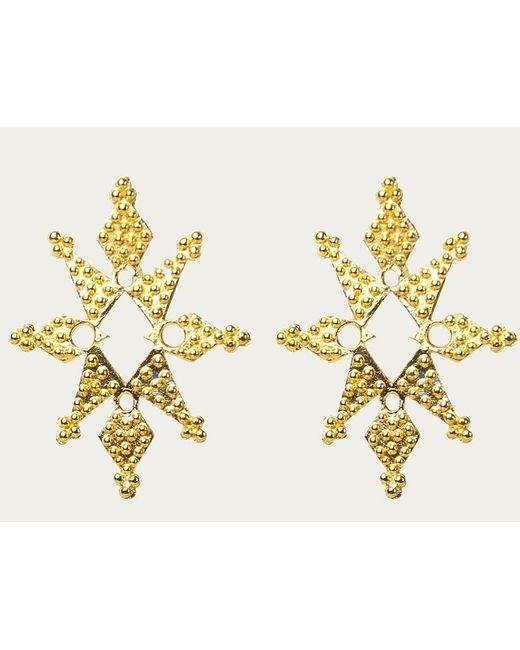 Zoe & Morgan   Metallic Stardust Gold Earrings   Lyst