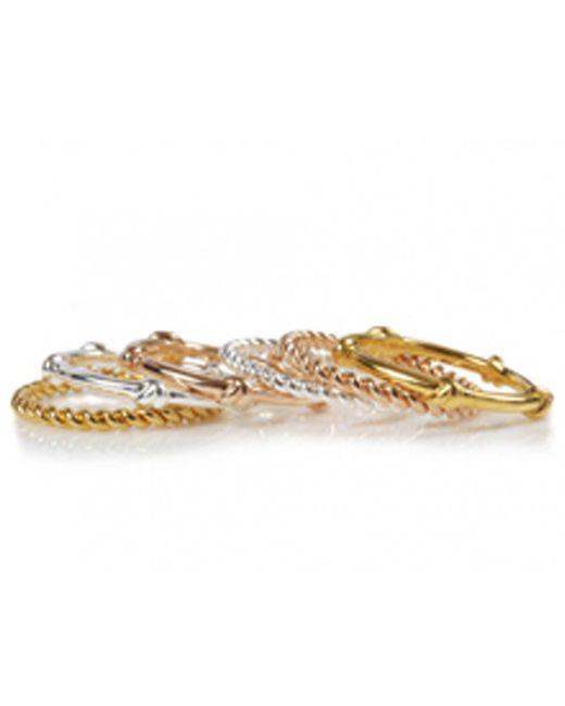 Davina Combe | Metallic Silver Twist Ring | Lyst