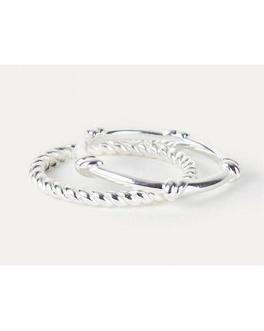 Davina Combe | Metallic Silver Knot Ring | Lyst