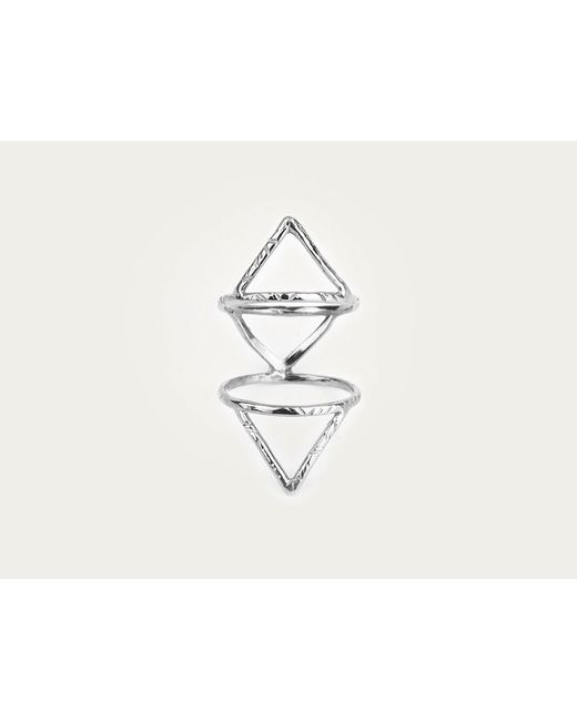 Odette New York | Metallic Klaia Cage Ring Sterling Silver | Lyst
