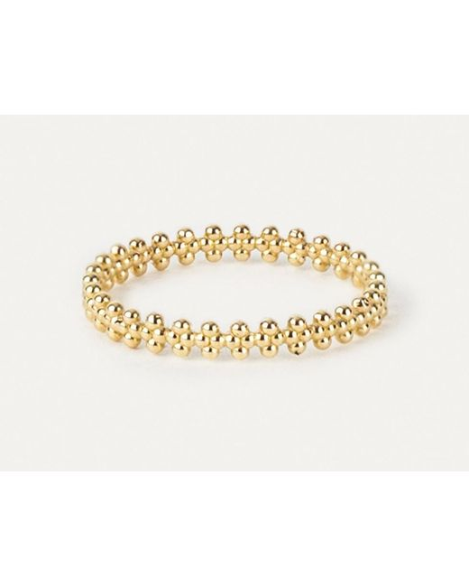 Grace Lee | Metallic Beaded Crown Ring In Solid Gold | Lyst