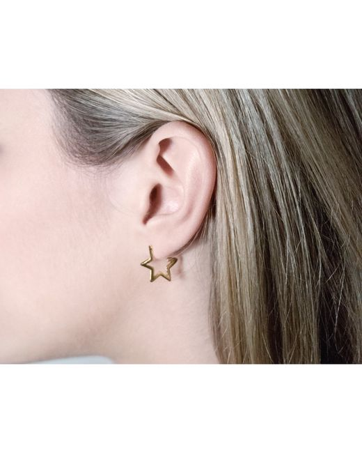 Tada & Toy | Metallic Gold Star Hoops | Lyst