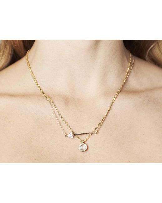 Sabrina Dehoff   Metallic Arrow Pendant Necklace   Lyst