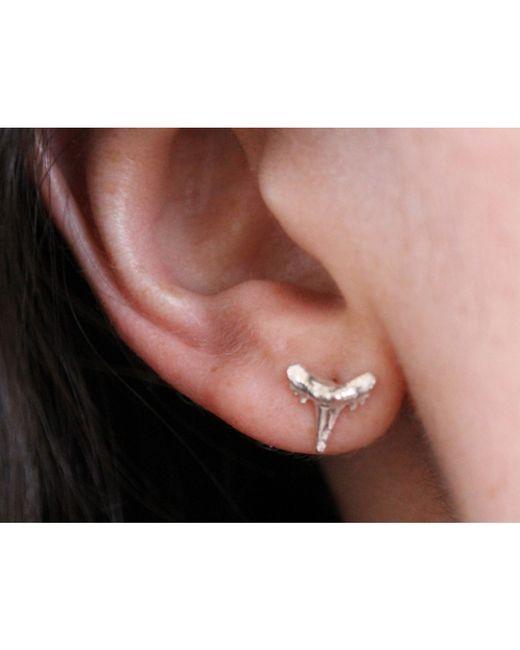 Lumo | Metallic Shark Tooth Earring | Lyst