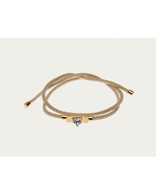 Sabrina Dehoff | Natural Cream Friendship Bracelet In 23kt Gold With Hand Painted Crystal | Lyst