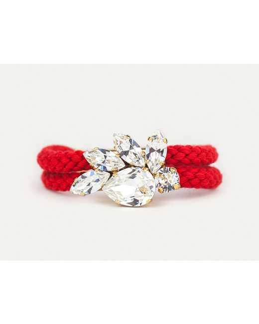 Sabrina Dehoff   Red Double Cord Royal Crown Bracelet   Lyst
