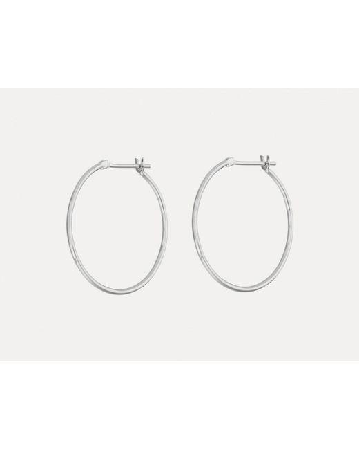 Otiumberg   Metallic Medium Silver Hoops   Lyst