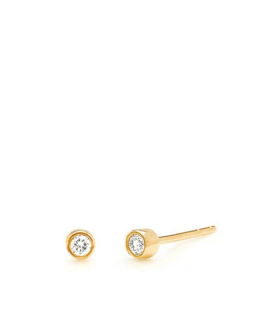 EF Collection | Metallic 14k Diamond Bezel Studs | Lyst