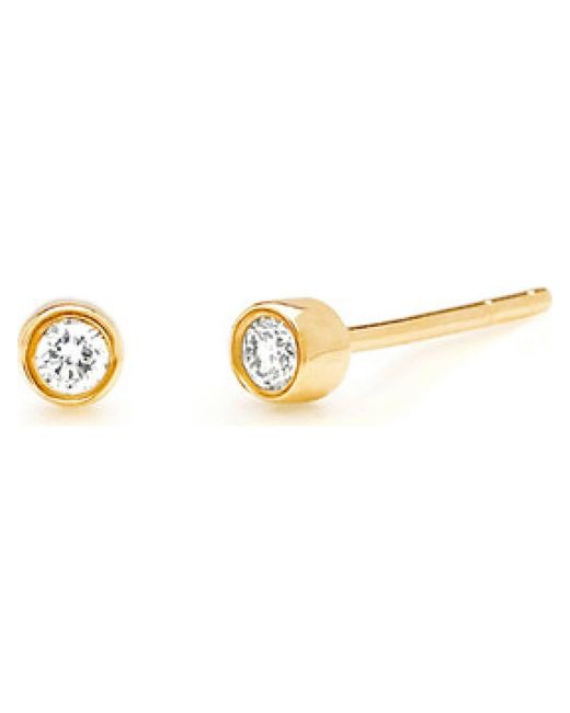 EF Collection | Metallic 14k Diamond Bezel Studs | Lyst