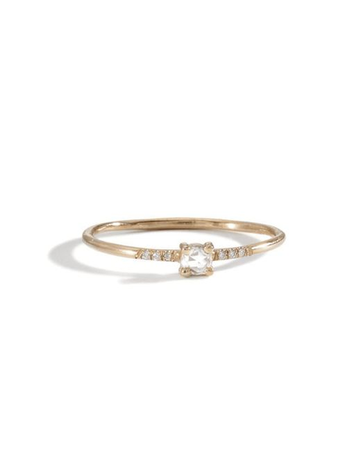 Blanca Monros Gomez | Yellow 18k Pronged Ring | Lyst