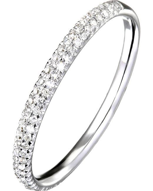 Demitasse | Metallic Pave Slant Ring | Lyst