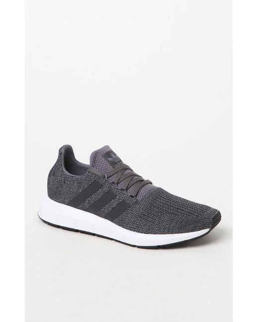 b9cbcd696 Adidas - Gray Swift Run Grey   Black Shoes for Men - Lyst ...