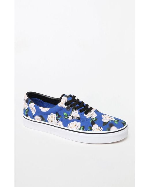 f2c0fc330f Vans - Blue Romantic Floral Era Shoes for Men - Lyst ...