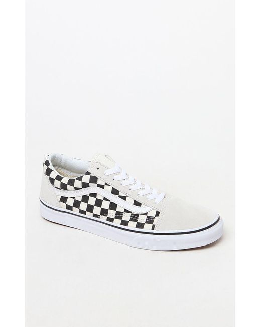 Lyst - Vans Checkerboard Old Skool Shoes in White for Men - Save 20.0% c52c172c5