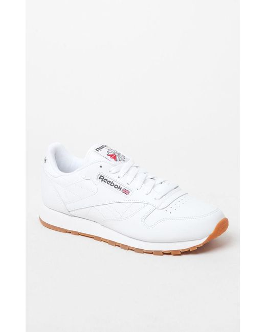 843d3b3b503 Lyst - Reebok Classic Leather White Shoes in White for Men