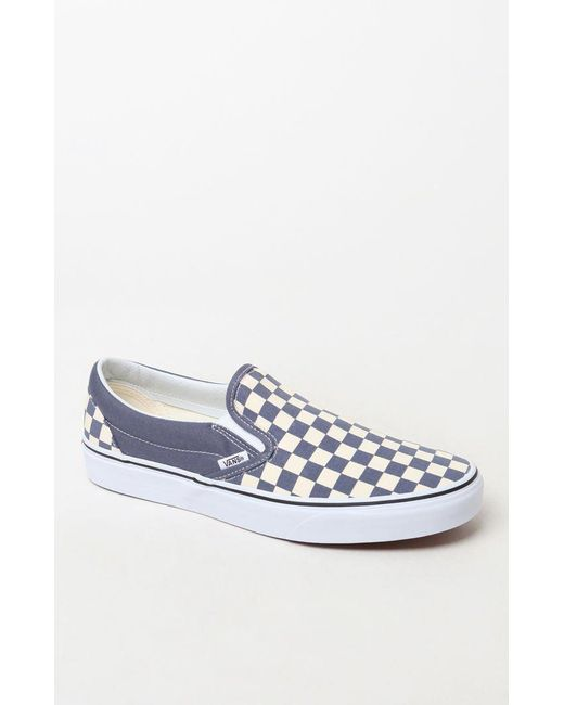 83a77951d648 Vans - Blue Color Theory Checker Slip-on Shoes for Men - Lyst ...