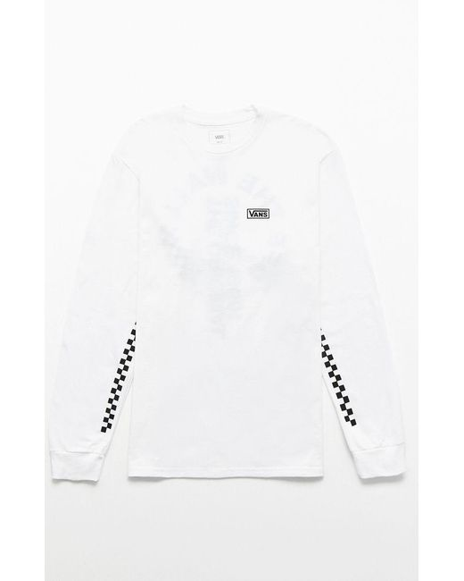 e6be27c022282e ... Vans - White Off The Wall Distort Long Sleeve T-shirt for Men - Lyst ...