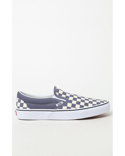 8d52c51ae22 ... Vans - Blue Color Theory Checker Slip-on Shoes for Men - Lyst ...