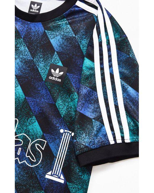 dc7df1801 ... Adidas - Blue Aop Soccer Jersey for Men - Lyst ...