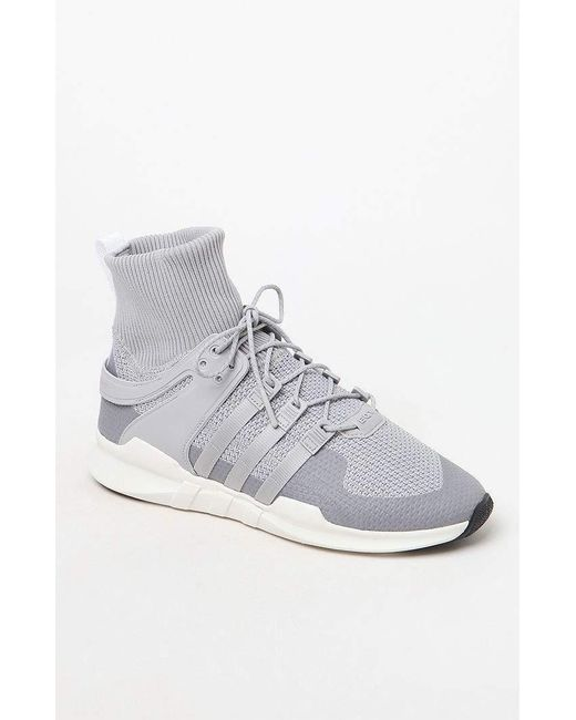 new style b2e75 452c9 Adidas - Gray Eqt Support Adv Winter Shoes for Men - Lyst ...