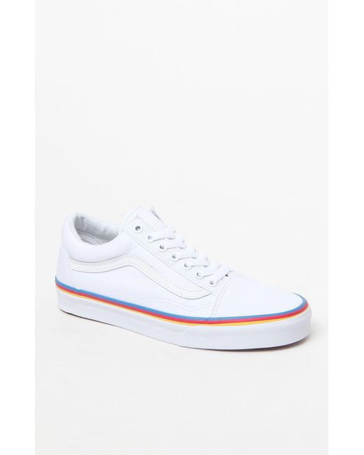 Vans - White Women s Rainbow Foxing Old Skool Sneakers - Lyst ... 5aa711e53