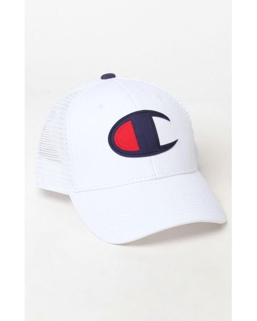 c702e5c6a3fb6 Champion Classic Twill Mesh Snapback Dad Hat in White for Men - Save ...