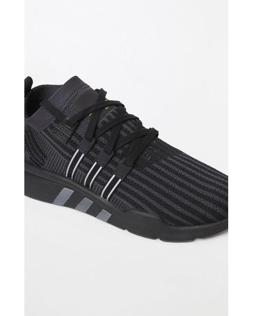 best loved 2401b 7257e ... Adidas - Eqt Support Mid Adv Primeknit Black Shoes for Men - Lyst ...