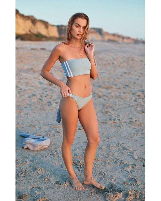 17b1b809eb Kendall + Kylie Binding Bandeau Bikini Top in Blue - Save 58% - Lyst